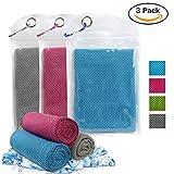 ECOMBOS Kühles Handtuch - Microfaser Handtuch, Kühlhandtuch Sporthandtuch für direkten Cooling, Fitnesshandtuch aus Atmungsaktivem für Sportlichen Gym Yoga Camping Golf Fußball