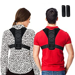 Posture Corrector for Men and Women, Best Scoliosis Back Brace Neck Pain Relief Shoulder Support Brace, Adjustable Posture Corrector belt Upper Back Support, Physical Therapy Posture Brace for Gym, Yoga, Ladies, Girls and boys