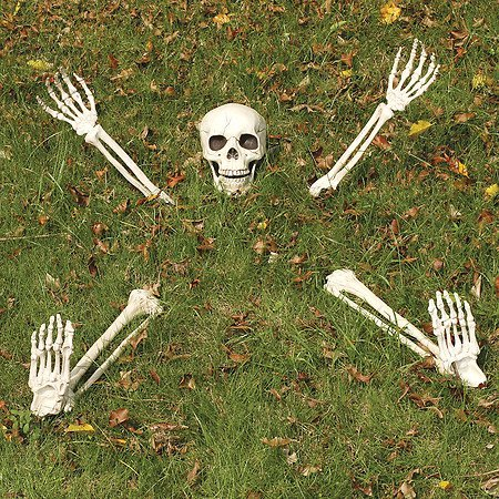 Yikes in the Yard Weich im Hof begraben Rasen Skelett Outdoor Halloween Dekoration