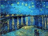 Poster 40 x 30 cm: Sternennacht über der Rhône von Vincent Van Gogh - Hochwertiger Kunstdruck, Neues Kunstposter
