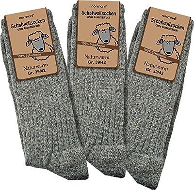 3 Paar Schafwollsocken - Socken aus 100% Schafwolle - naturwarm von normani bei Outdoor Shop