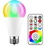 iLC Bombillas Colores RGBW LED Bombilla Cambio de Color Edison - RGB 120 de colores Regulable - 10 vatios E27- Control remoto