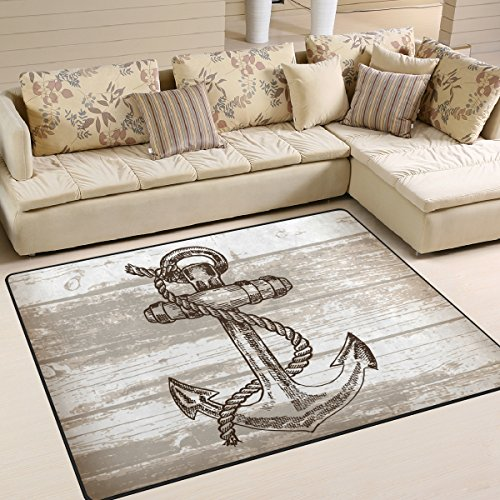JSTEL ingbags Super Weich Moderner Anker, EIN Wohnzimmer Teppiche Teppich Schlafzimmer Teppich für Kinder Play massiv Home Decorator Boden Teppich und Teppiche 160x 121,9cm, Multi, 80 x 58 Inch