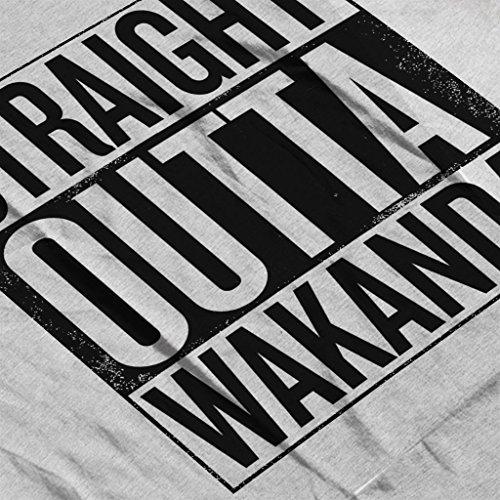 Black Panther Straight Outta Wakanda Womens Sweatshirt Heather Grey