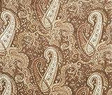 Braun Laub Indian Printed Decorative 42 'Wide Cotton Craft Fabric von der Werft