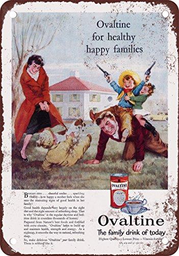 1960-ovaltine-pour-les-familles-reproduction-metal-sign-pancarte-en-mtal-vintage