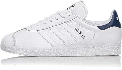 Adidas Gazelle Leather FU9487 White Dark Blue (US 10 - Bianco)