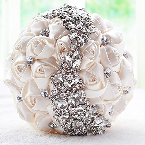 Haixin Handgefertigte Bukett, Perle Diamant Braut Hand Strauß, Hochzeit Zubehör