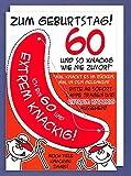 Riesen Grußkarte 60 Geburtstag Humor AvanFriends XXL Accessoires Kappe und so knackig wie nie zuvor! A4