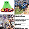 3 Bunches 111Pcs Water Ballons Filler Toys with Different Colors Orange Blue Yellow Pink Purple