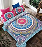 Imperial Rooms Stylish Bohemian Decor Duvet Covers Boho Bedding Quilt Cover Bed cover Mandala bed sheets Duvet sets (Double/Storm) Include 1 duvet set and 2 pillow cases