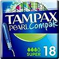 Tampax Pearl Compak Super Tampons Applicateur x18, La Meilleure Combinaison De Confort, Protection Et Discrétion Tampax