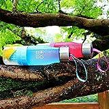 Wasserflasche, tragbar, für Getränke mit Zitronenspritzer, für eigenes Wasser mit Obstgeschmack, Saft, Eistee, Limonade & Getränke mit Kohlensäure, 650ml, blau, 24.3 cm high x 7cm diameter -