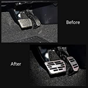 Fußpedal Pedalkappen Auto Pedale Abdeckung Aluminiumlegierung Gummi Für Corolla Pedal Auto