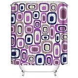 LINGCURTAIN Quadrate Dekorative Duschvorhänge Blau Rosa Weiß Stoff, Wasserdichtes Anti-mehltau Badezimmer Dusche Vorhang Shower Curtain 60