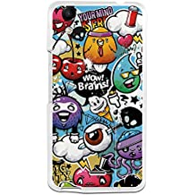 Funda Gel Flexible Wiko Rainbow Up BeCool Grafiti de Colores Divertido Carcasa Case Silicona TPU Suave
