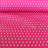 Stoff Baumwolle Acryl Punkte klein pink weiß Regenjacke