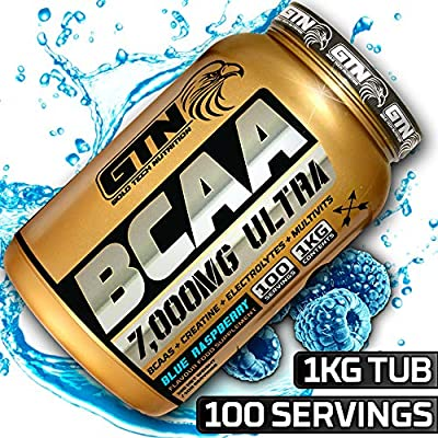 Gold Tech Nutrition Gold Standard BCAA 100 Servings, 7000mg Per Serving | Branch Chain Amino Acids with Mutlivitamin Blend and Electrolytes Matrix. BCAA Powder by GTN from Gold Tech Nutrition