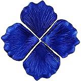 EDGEAM 1000 x Pétalo de Rosa Seda Boda Fiesta Decoración de la Mesa de Flores (Azul real)