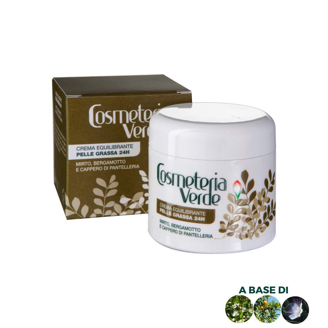 Crema Equilibrante Piel Grasa 24 H Cosmeteria Verde – Reduce las principales alteraciónes esteticas de lapiel grasa. Normalizala producción de sebo Reducelos poros dilatados.