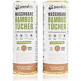 100% Bambus Küchenrolle 2er Pack - waschbare Haushaltstücher, umweltfreundliche Papiertücher, ersetzt bis zu 60 Haushaltsrollen, saugstärker und reißfester als herkömmliche Küchentücher
