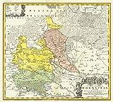 Karte vom Amt Hohnstein und dem Harz 1761. Comitatus Hohnstein nec non Dynastiarum Lohra et Klettenberg 1761.  Ausführl
