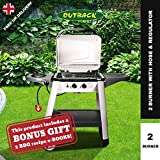 Outback Excel 300 Gas BBQ Grill 2 Burner + Side Burner