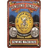 Singer - Placa metálica para máquina de coser, diseño vintage, ...