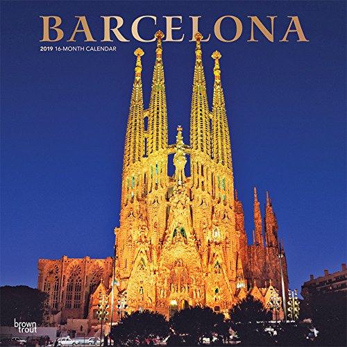 Barcelona 2019 - 18-Monatskalender mit freier TravelDays-App: Original BrownTrout-Kalender