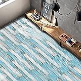 Mosaik Fliesen Aufkleber, PVC, Holz Block für Küche/Schlafzimmer/Wohnzimmer Boden D