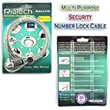 RiaTech 2m Notebook / Laptop Combination Lock Security Cable