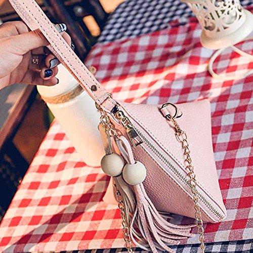 Pomineer, Tracolla Da Donna Multicolore Color Kaki Rosa