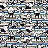 Fabulous Fabrics Baumwolljersey Stoff Schurken Monster -