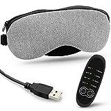 LASCOTON Schlafmaske, Augenmaske Nachtmaske Verstellbarem Gummiband 100% Hautfreundlich PU Schlafbrille. USB dampfbrille Heiße Schlafen schlafbrille
