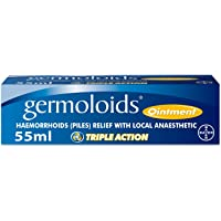 Germoloids Hemorrhoid Treatment & Piles Treatment Ointment, Triple Action with Anaesthetic to Numb the Pain & Itch, 55 g…