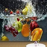 Uhu 3D Wallpaper Grande Peinture Murale Personnalisée 3D Papier Peint Fruits Spray Moderne Créative Papier Peint Restaurant Salon Décoration De La Maison, 430 * 300 Cm