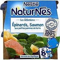 Nestlé 12238047 4 Petits Pots et Plaques pour Bébé 1600 g - Pack de 8