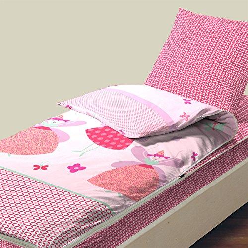 Bleu câlin caradou faustine rarc90 biancheria da letto per bambini, cotone, corallo, singolo, 90 x 190 cm