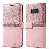 Für Samsung Galaxy J3 2015 Verion J3 2016 Verion Hülle,Prämie Bling Glitzern Funkeln Diamant Folio Leder Brieftasche
