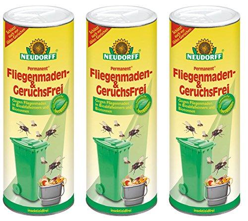3 x 500 g Neudorff Permanent Fliegenmaden- & GeruchsFrei