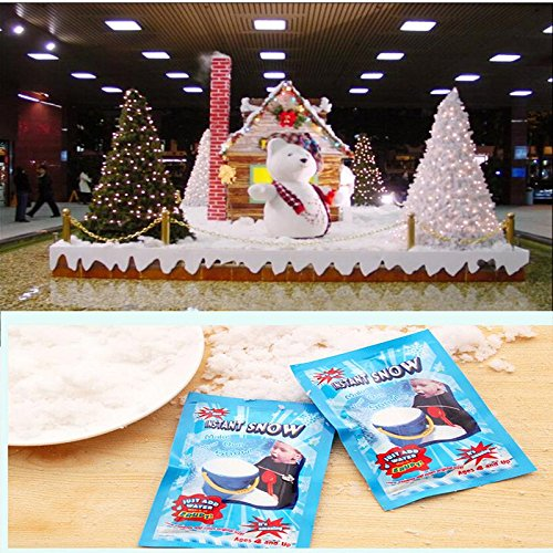 owflakes - Christmas Diy Gift Creative Artificial Winter Instant Snow Magic Powder Xmas Decoration Free - Instant Snow Snow Snow Snow Fake Ornament Snow Shirt Plastic C ()