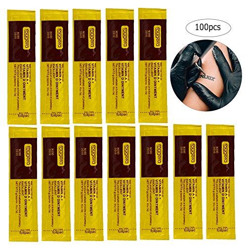 100 Teile/satz Professionelle Anti-narbe Tattoo Make-Up Nachsorge Repair Healing Creme Vitamin Salbe (100 Teile)
