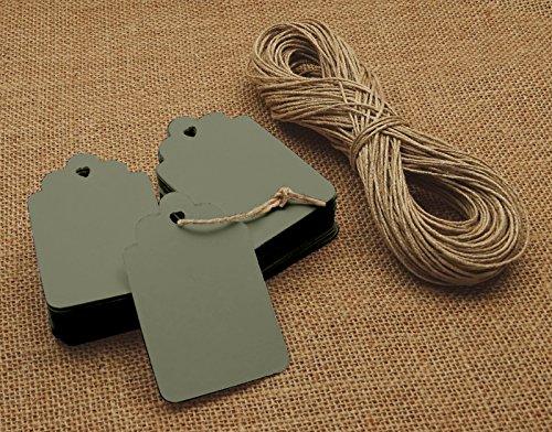 100 Stück Geschenkanhänger Rechteckige Form Blank Bonbonniere Hochzeitsgeschenke Mit Freiem Natürlichem Jute Twine - Farben Erhältlich -