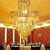 Moderne Kristall-Kronleuchter Lampe Wohnzimmerlampe goldenen runden Persönlichkeit Pendelleuchte Schlafzimmer Lampe Restaurant Lichter Treppe
