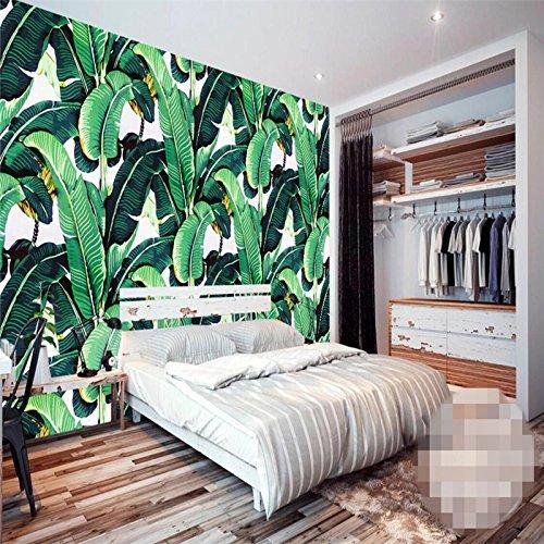 Wapel Benutzerdefiniertes Hintergrundbild Europäischen Retro Hand Painted Tropischen Wald Pflanze Bananenblätter Pastorale Wandbilder Hintergrund 430 Cmx 300Cm (Tropischen Wald Hintergrund)