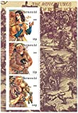 Las aventuras de Robin Hood en miniatura sello hojita con Friar Tuck y Will Scarlett - Bernera Isl / 2001