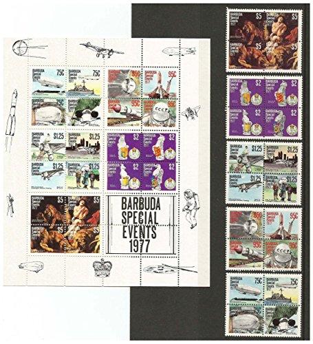 1977 Barbuda besondere Veranstaltungen Stempel-Set und Block für Sammlern. 36 hervorragenden Zustand Briefmarken - MNH