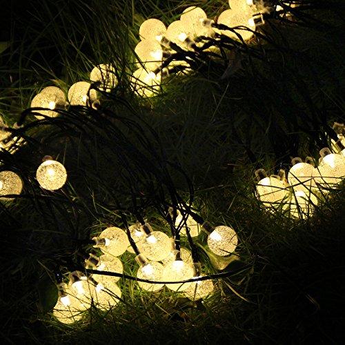 Solar outdoor string lights ascher 30 led fairy light warm white solar outdoor string lights ascher 30 led fairy light warm white crystal ball christmas globe aloadofball Choice Image