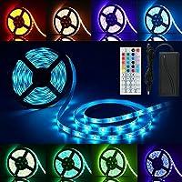 LED Streifen RGB 5M, Anten 300 LED Lichtleiste LED Strip Lichtband IP65  Wasserdicht Mit 44