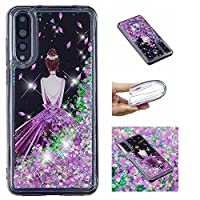 BONROY Huawei P20 Pro / P20 Plus Case, Full-body Glitter Sparkle Bumper Protective Case for Huawei P20 Pro / P20 Plus-(sand sand - back)
